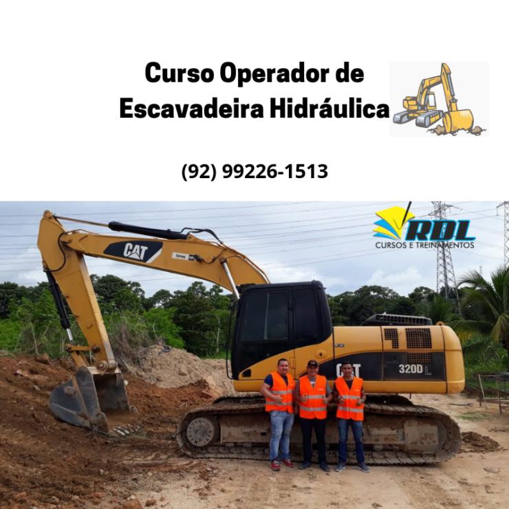 Curso Operador de Escavadeira Hidráulica